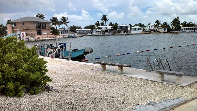 Marina w/saltwater swimming area