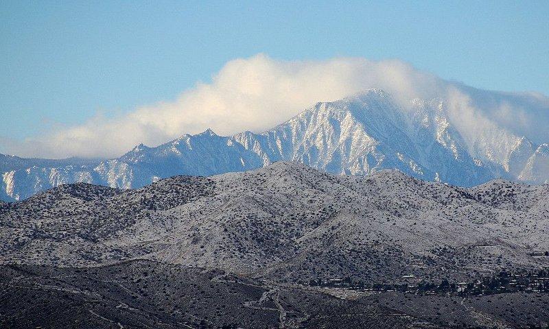 Le mont Gorgonio, vu de la maison - prenez un téléphérique à 8 500 pieds.