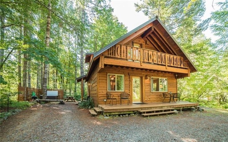 Beautiful Cabin 3 bed, 2 bath with hot tub in Packwood, holiday rental in Packwood