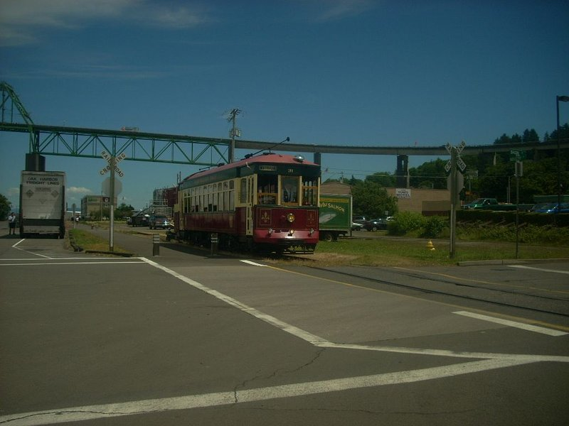 The Trolley Stop across the street