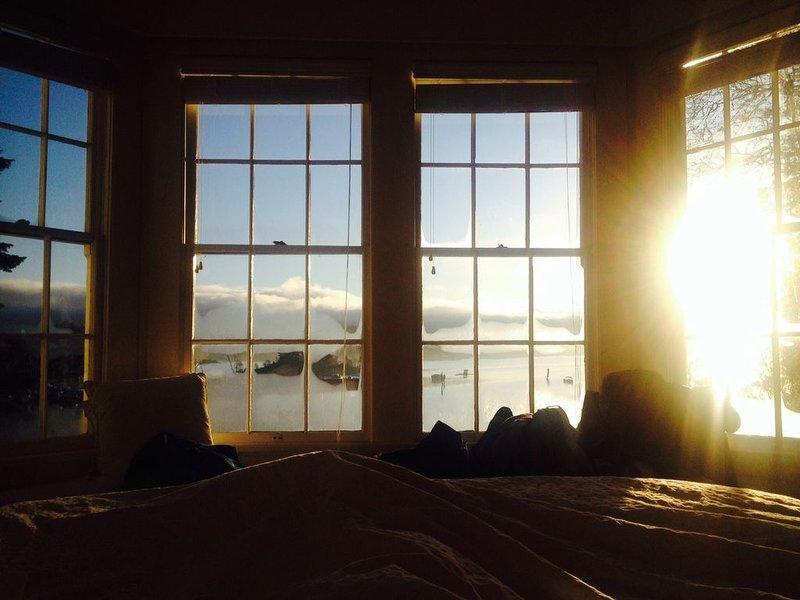 Ochtend uitzicht vanaf bed!