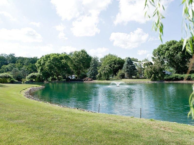 Lagoa com fonte