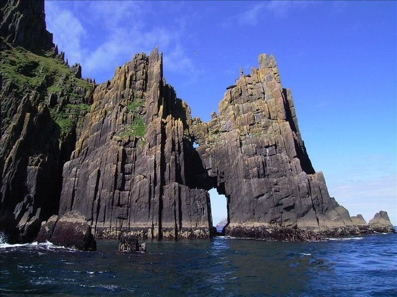 The Cathedral rocks of the Blasket Islands