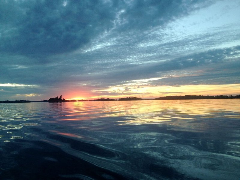 Sunset out on the River (backside of Grindstone Island)!