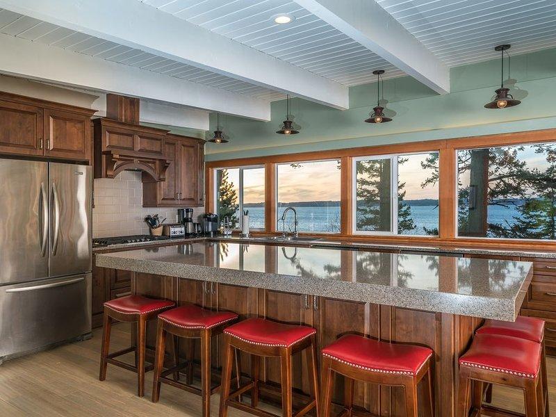 Nouvelle grande cuisine avec une vue magnifique.