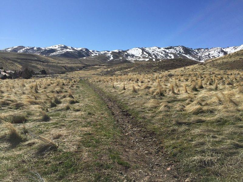 Les collines et les sentiers sont juste en face de la maison!