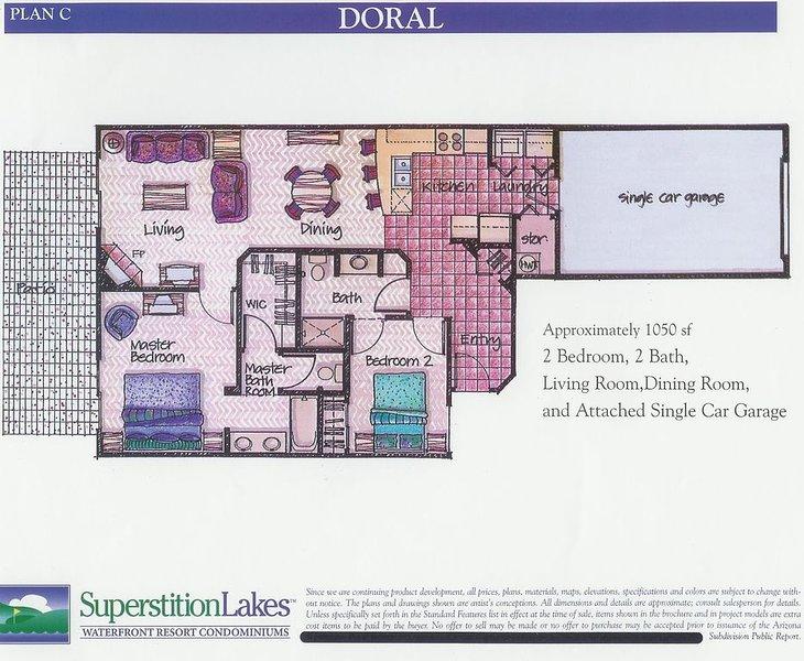 Plan d'étage du condo