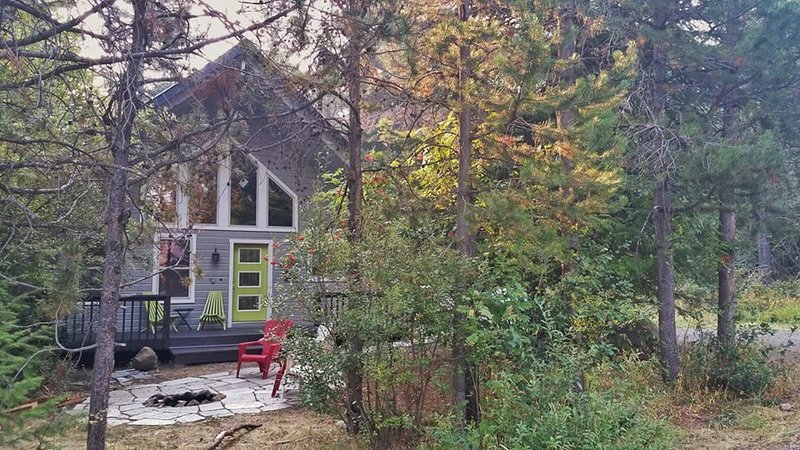 Sweet Spot! Easy 1/2 mi walk to town/Lake Payette from cabin in the trees!, holiday rental in McCall