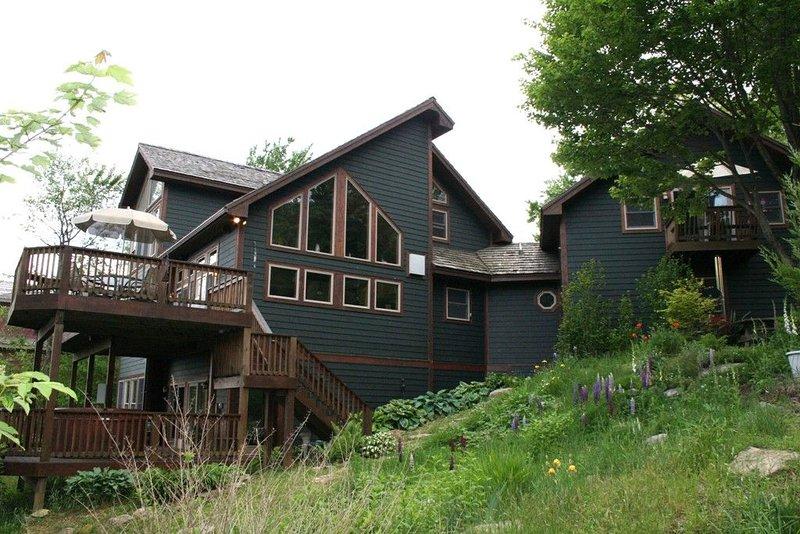ski slope side of the house
