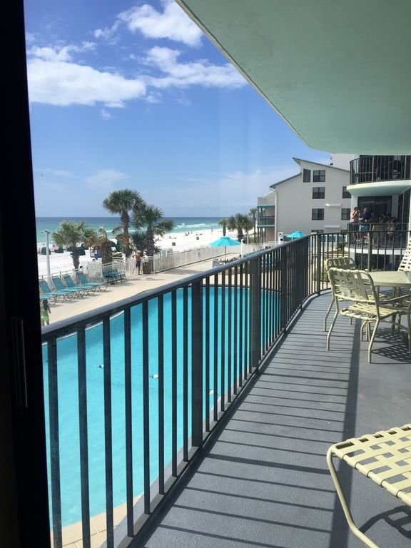 No better pool view exists from our huge balcony!
