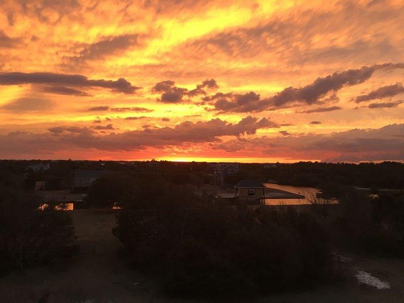 Gorgeous sunset on upper deck