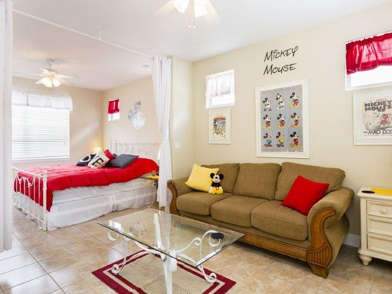 Mickey Theme Apartment är perfekt för morföräldrar, äldre barn eller 2: a par