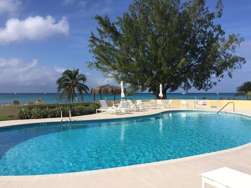 The newly renovated heated pool and ocean are just steps away!