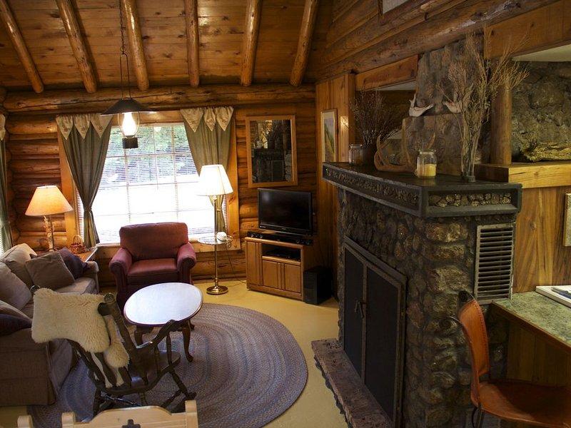 Sunny LOG HOME on CREEK!  FIREPLACE!  Perfect mix of Comfort and Mountain Living, aluguéis de temporada em Cooke City