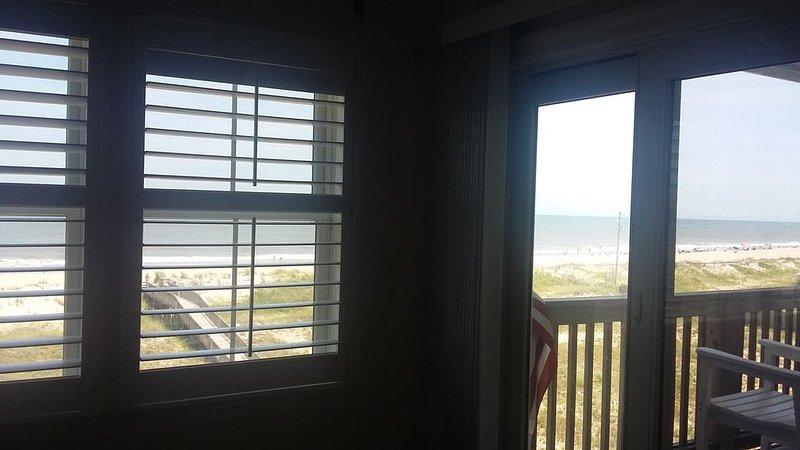 Vista desde el dormitorio principal.