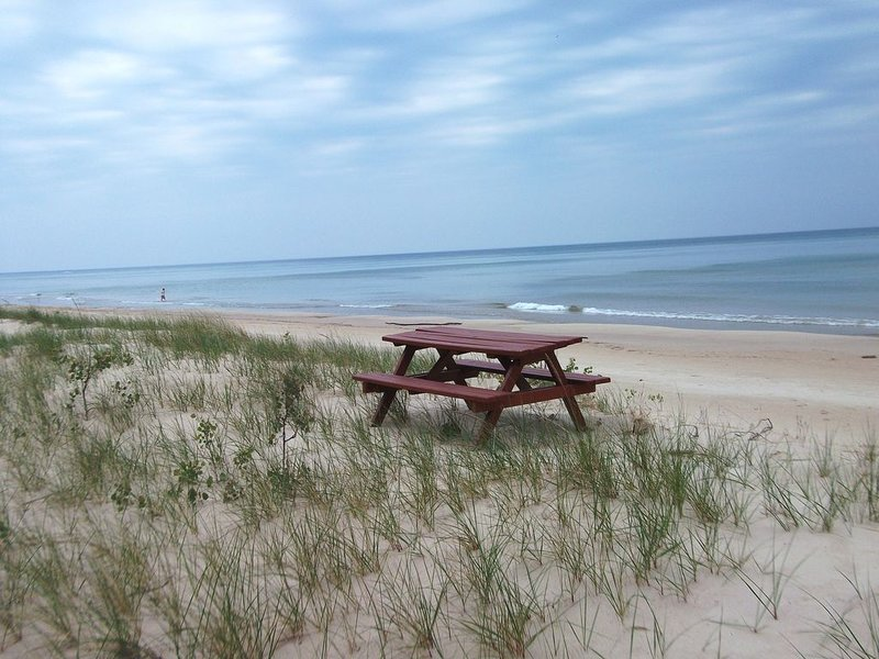 Lake Michigan Beachfront Home; 200' of Privately Owned Beach on Lake MI, holiday rental in Mears