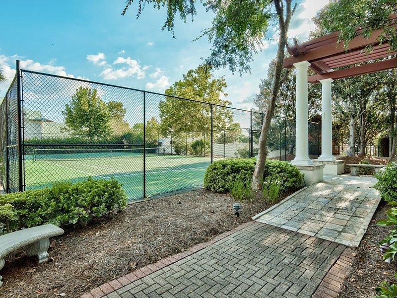 Tennis courts in neighborhood