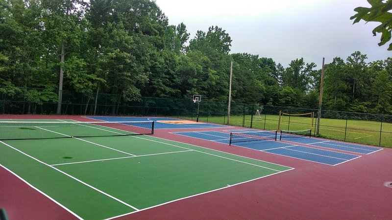 Tennis, Pickleball, Basketball & Volleyball Courts are right by the house