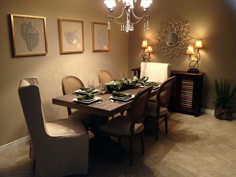 Dine in elegance, seating for six