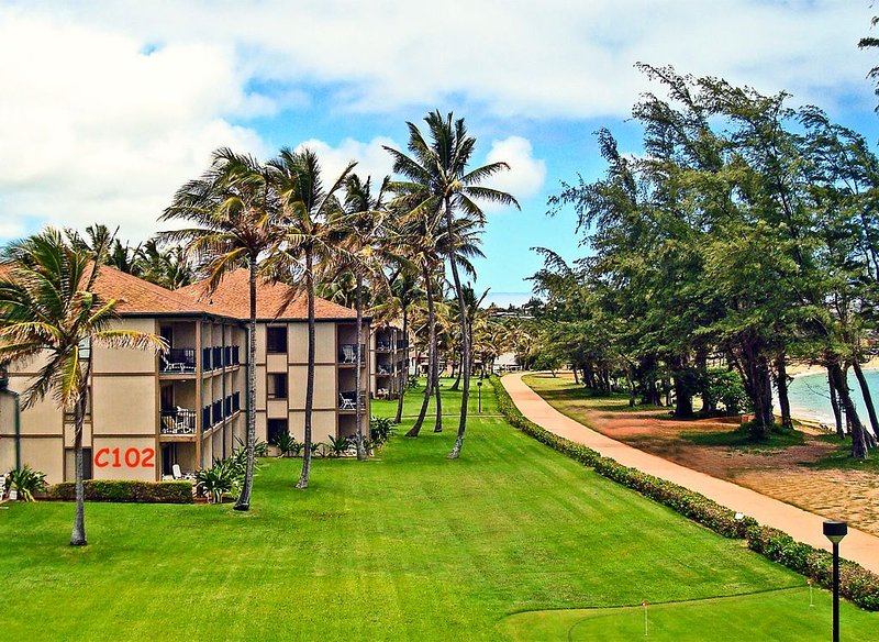 Steps Away from the Beach in This Premium Oceanfront Condo (Senior Rates Avail), holiday rental in Kapaa