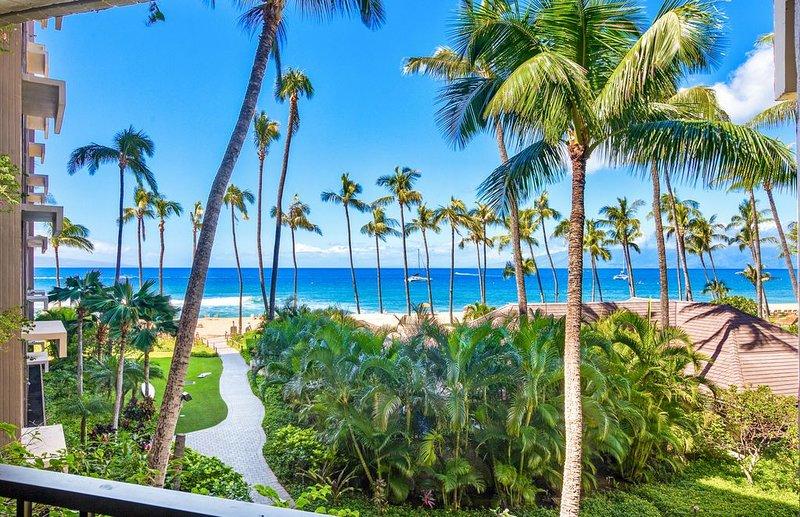 Maui Resort Rentals: Ka'anapali Ali'i 432 - Deluxe Oceanview Interior Courtyard, holiday rental in Lanai