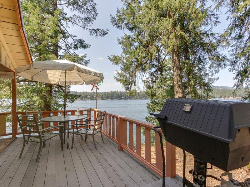 Dog-friendly, lakefront cabin w/private dock, dock access & views!, location de vacances à Hayden