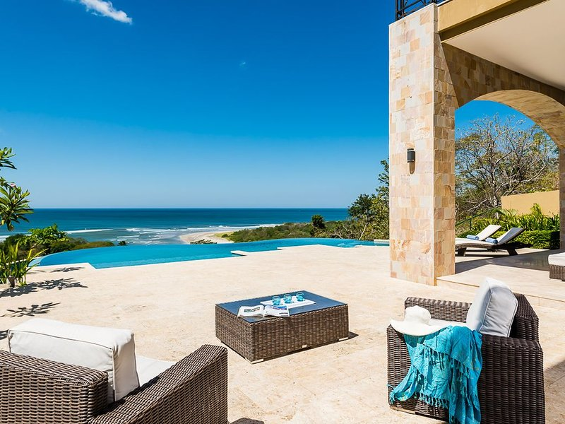 luxery villa - increadible sunset, gated community, ocean view, very private, holiday rental in Tamarindo