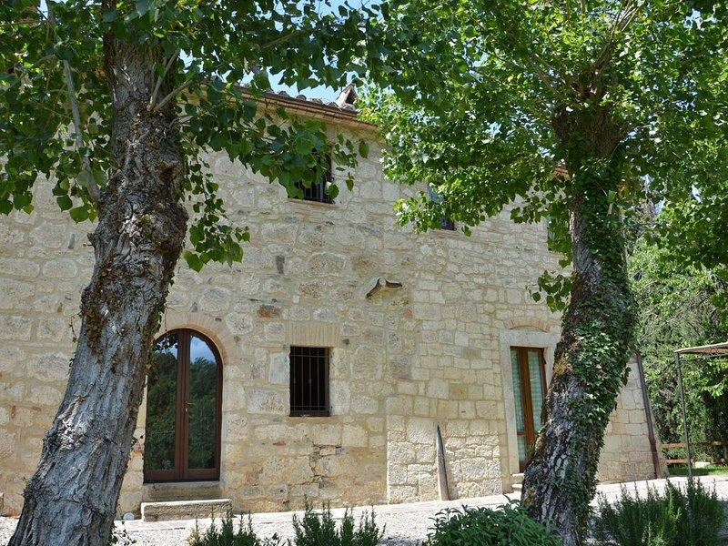 Casale campagna toscana piscina privata recintata- giardino- ideale per famiglie, holiday rental in Sarteano