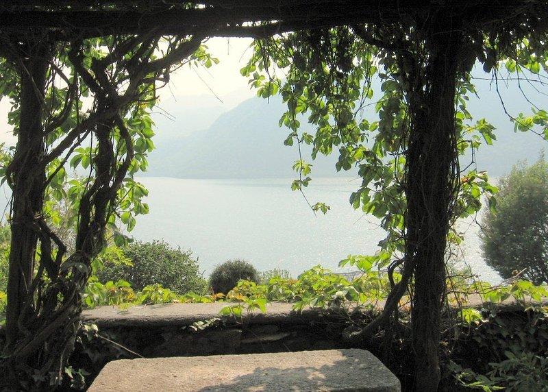 Villa à Pettenasco, Lac d'Orta,  vues superbes du lac, grand jardin, 9 personnes, alquiler vacacional en Province of Novara