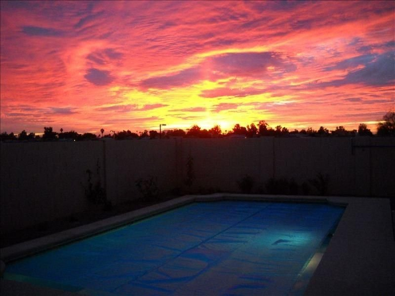 Arizona sunset from patio