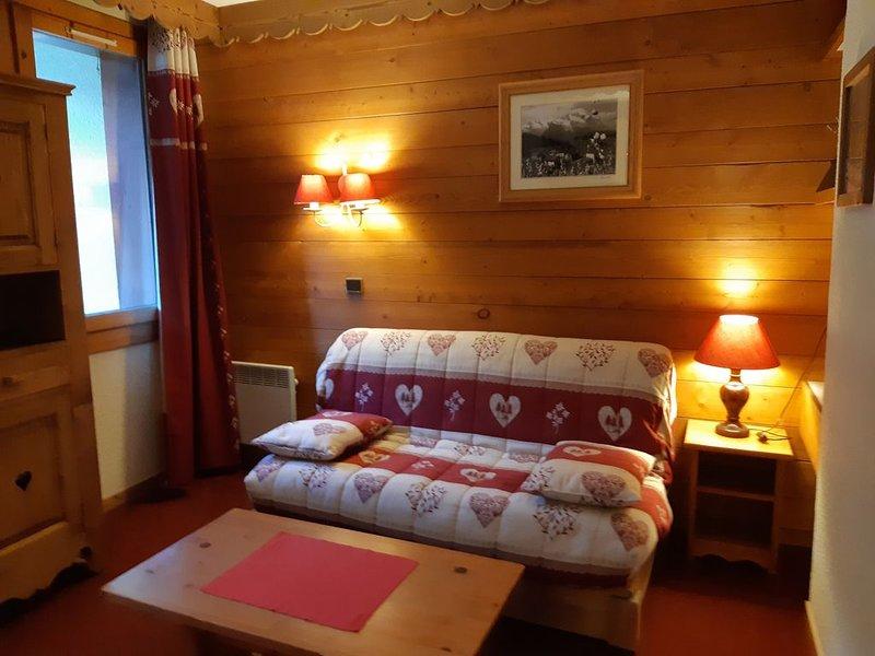 4 personnes 27m2, départ et retour skis aux pieds Pierrafort, casa vacanza a Les Avanchers-Valmorel