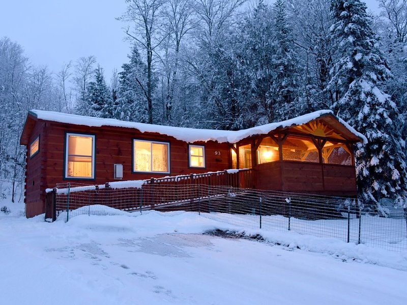 After the first big snowfall. Cozy and warm inside! Beauty all around.