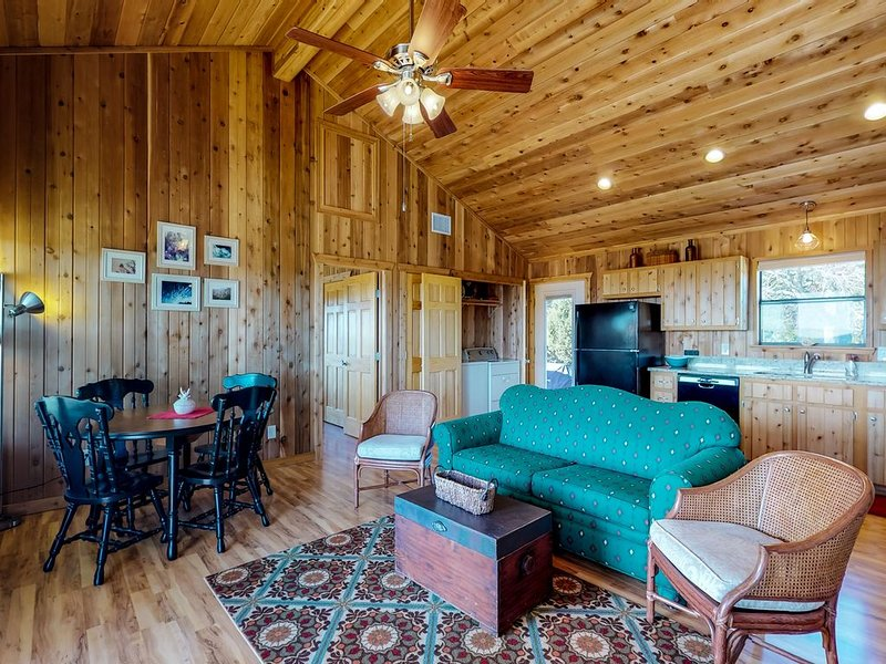 New and secluded cedar cabin  just 10 miles from the heart of Blanco!, holiday rental in Hye