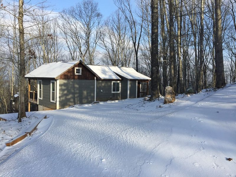 FOREST COTTAGE- PERFECT COUPLE'S GETAWAY- New washer/dryer, alquiler de vacaciones en Mineral Bluff