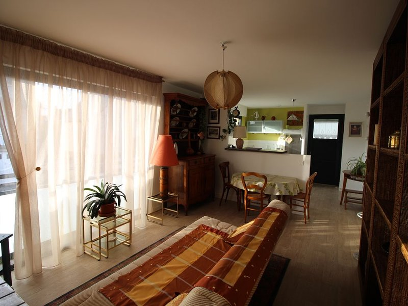 Living room on open kitchen