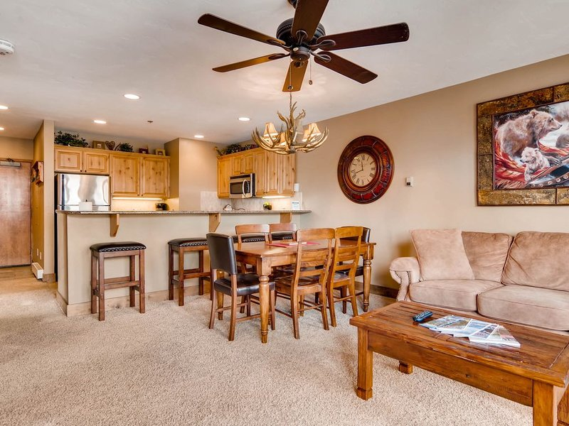 ALL AMENITIES, OWNER RENTS<250 YDS TO MTN!  2BED/2BTH,  HTD HT/POOL, WIFI, holiday rental in Steamboat Springs