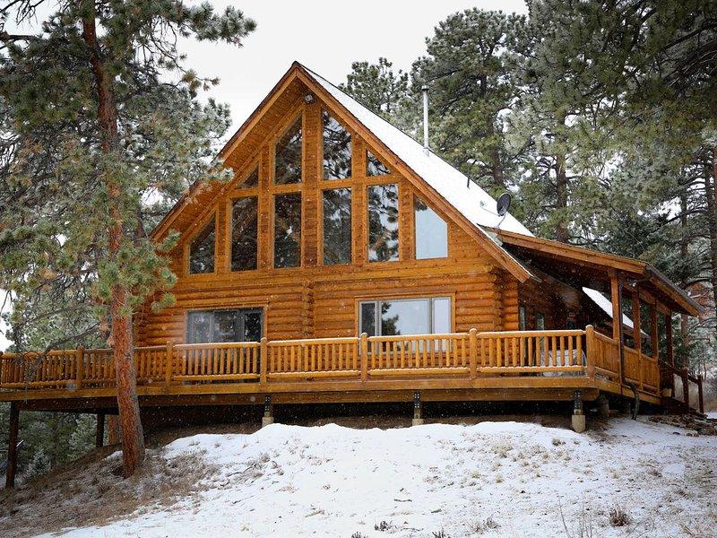 Première neige en novembre à Ponderosa Mountain Mountain Escape