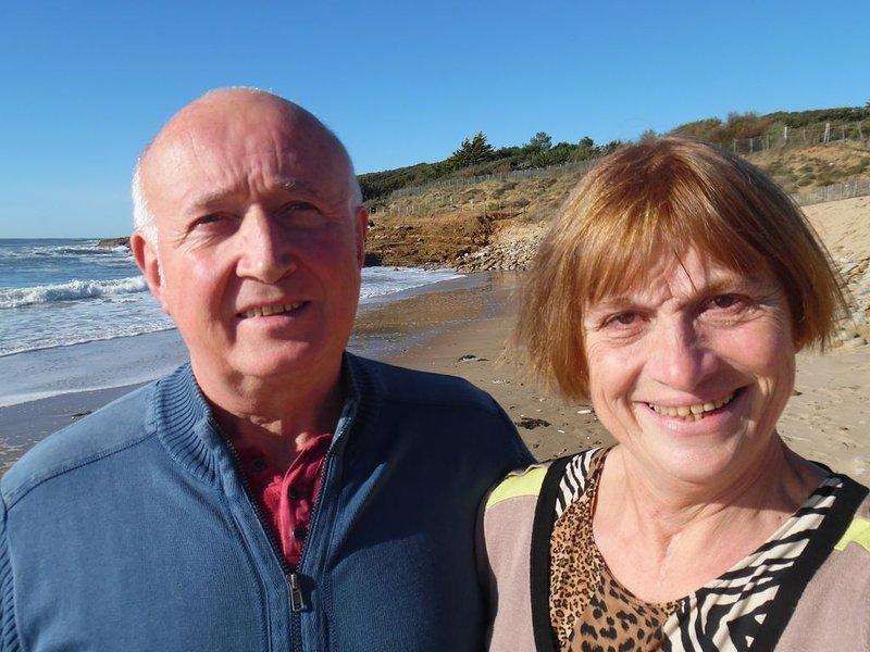 Colette et Rémy sur la plage