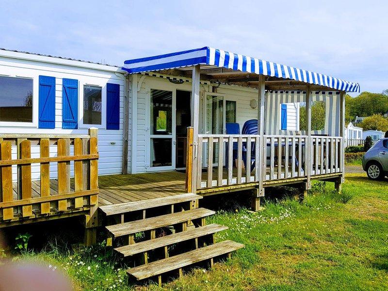 Mobilhome Perros-Guirec, camping de Louannec avec piscine chauffée*, vue mer, alquiler de vacaciones en Louannec