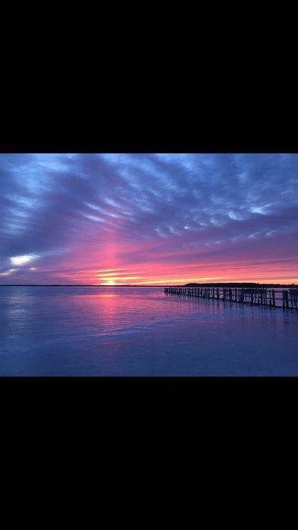 Puesta de sol sobre la bahía de Rehoboth