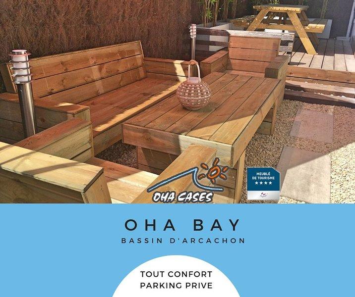 OHA BAY - Sur le bassin d' Arcachon, entre la dune du Pyla et le Cap ferret, holiday rental in Audenge