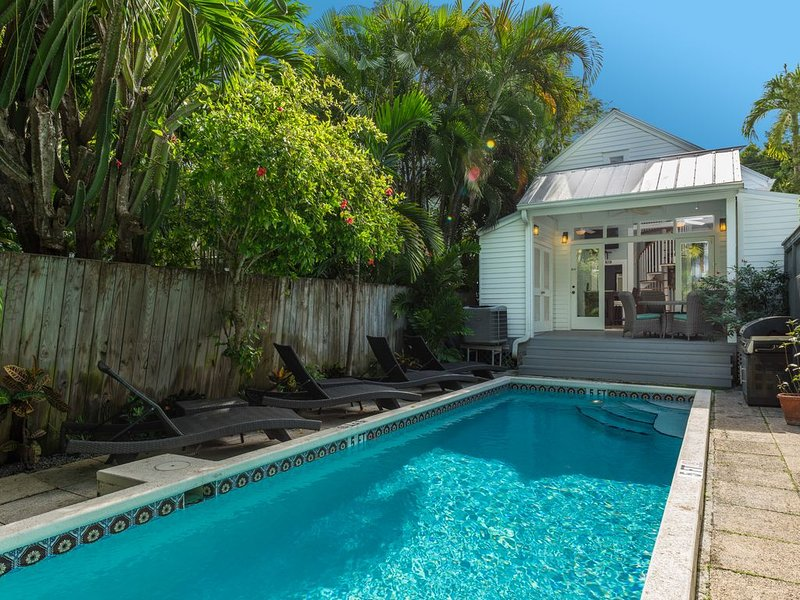 'LOST SHAKER OF SALT' ~ 3 Bed, 2 Bath Pet Friendly Home with 40' Private Pool, vacation rental in Key West