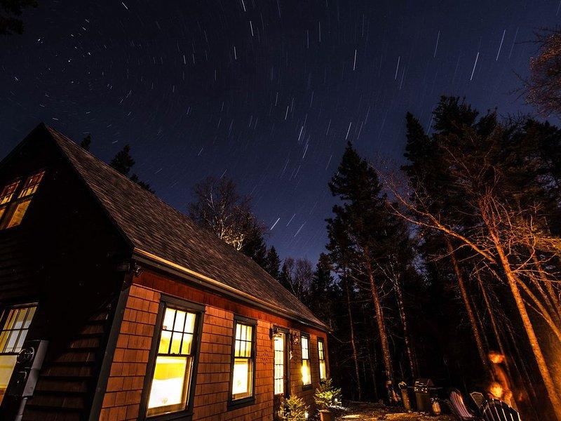 Senderos de estrellas de Downeast! El cielo nocturno es magnífico.