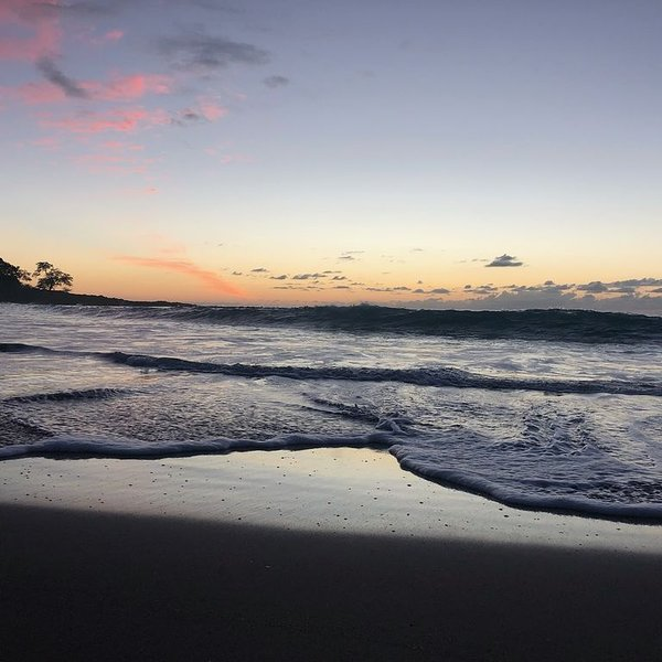 Beginning of sunset at the beach at A-Bay