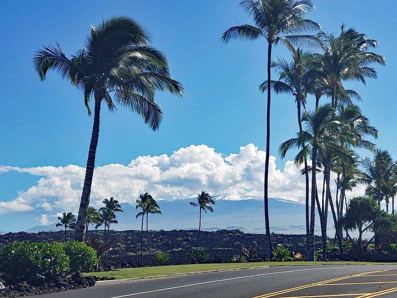 Mauna Kea with snow