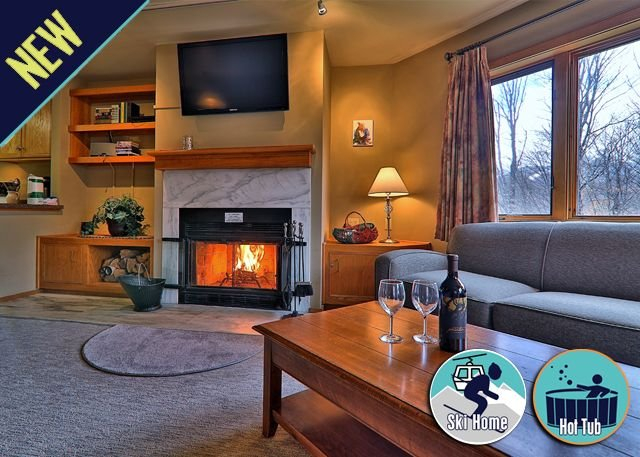Amazing view & location - ski back trail/shuttle w/sports center Highridge B4, location de vacances à Killington