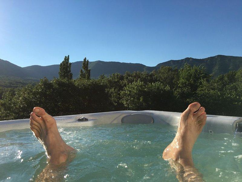 Maison Drôme Provence - SUD France / Jacuzzi / 6-8 pers. Au Calme - lieu sain., Ferienwohnung in Roche-Saint-Secret-Beconne