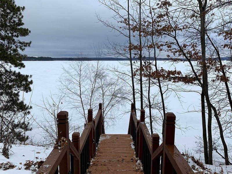 Escaleras hasta el hielo.