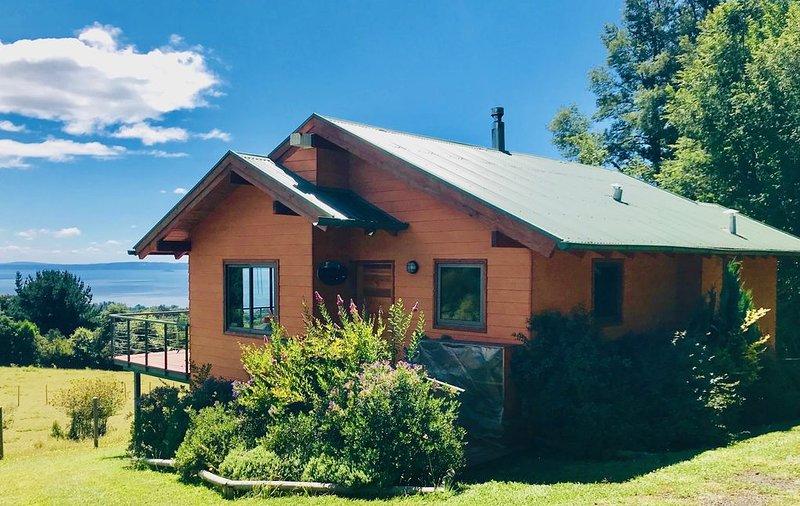 Luxury Cabin Full Lake/ Volcano view / Special offer, location de vacances à Région de l'Araucanie