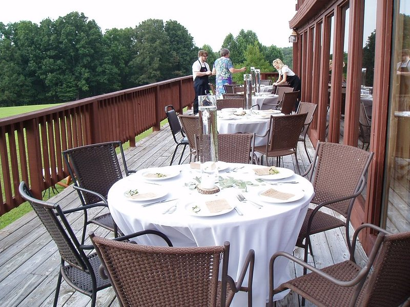 How about a group meal on our Lodge Deck!